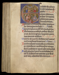 King David And His Musicians, In A Historiated Initial To Psalm 80, In A Psalter